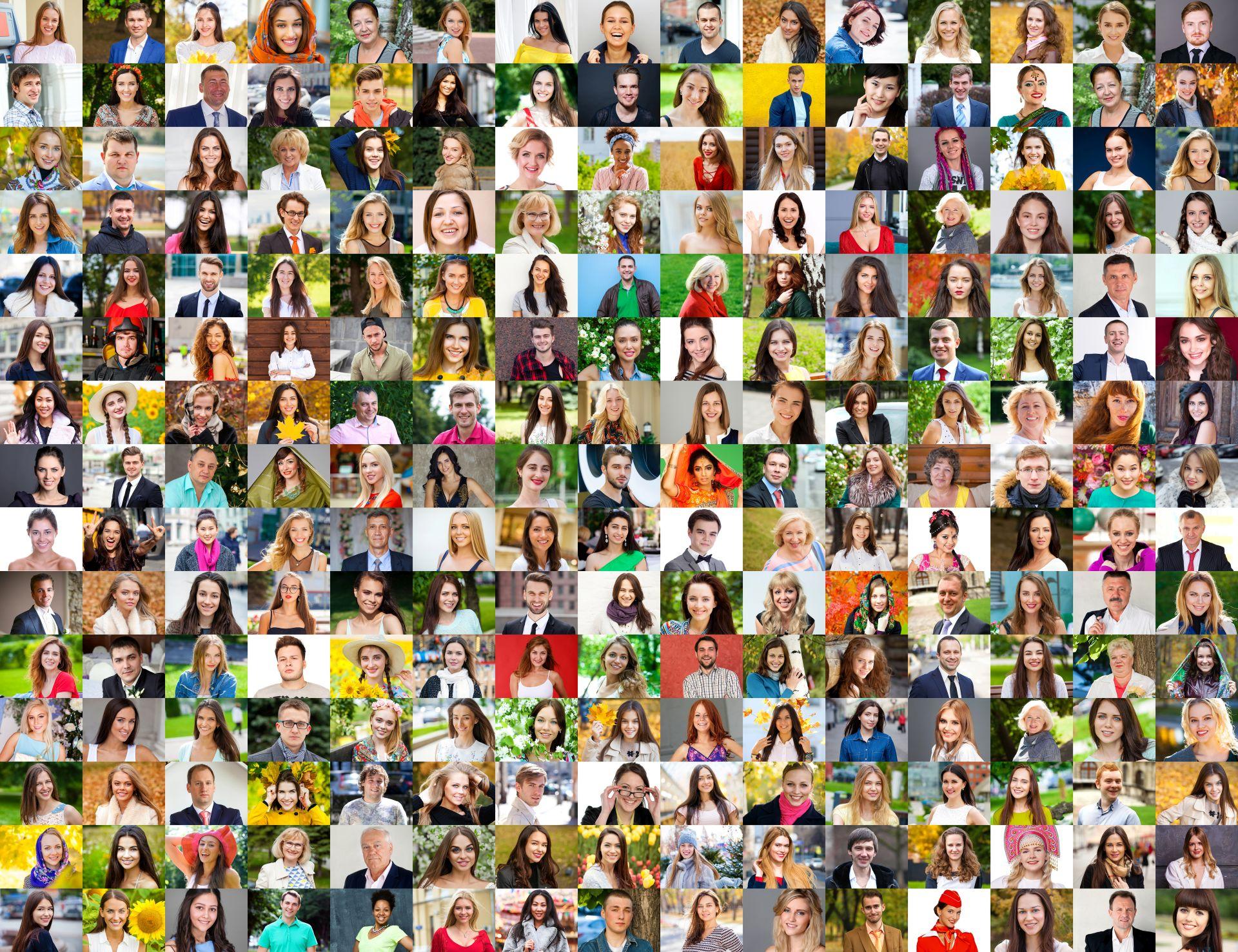 kolaż ze zdjęć osób - kobiet i mężczyzn pokazujacy różnorodność