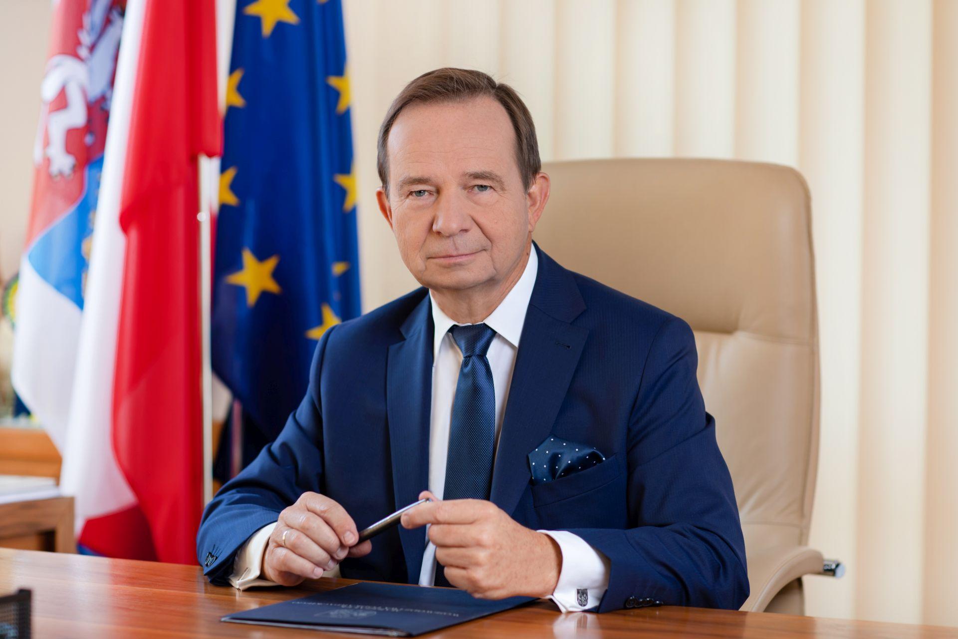 Władysław Ortyl, marszałek województwa podkarpackiego.